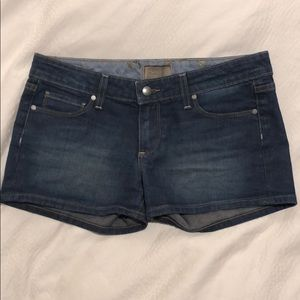 Paige denim shorts, size 28